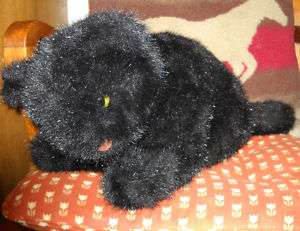 LARGE BLACK KITTY CAT PLUSH STUFFED ANIMAL 16 long