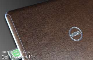 Dell Inspiron 11z Laptop Cover Skin   Brown Leather