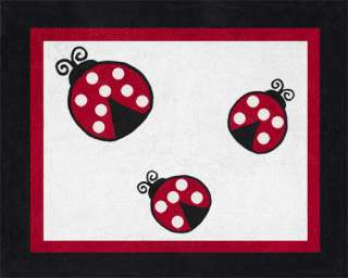 RED WHITE BLACK LADY BUG UNIQUE CHEAP DESIGNER BABY BEDDING GIRL CRIB