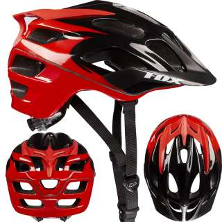 2012 Fox Racing Flux Mountain Bike XC Cycle Helmet Black Red Small