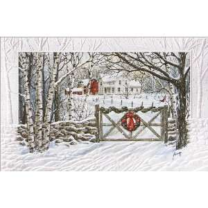 Heavy Embossed Winter Scene   100 Cards