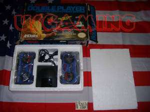 NES Nintendo ACCLAIM DOUBLE PLAYER CONTROLLERS   BOXED