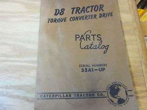 Caterpillar D8 Tractor Torque Converter Drive Part Cat.