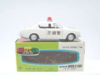 YONEZAWA DIAPET ABS TOYOTA CORONA Mk II POLICE CAR (MIB