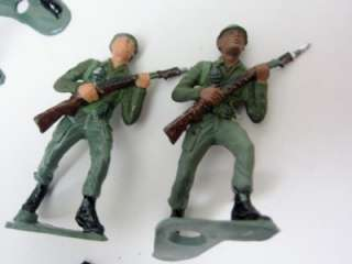 Plastic MPC Soldiers 1950s Lot 25 Handpainted SPECIAL FORCES Green