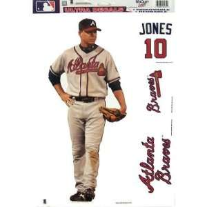 ATLANTA BRAVES CHIPPER JONES REMOVABLE CAR TRUCK WINDOW WALL DECAL SET