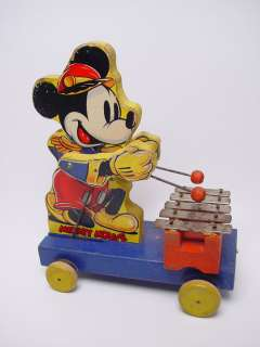 1939 Fisher Price Mickey Mouse Xylophone #798 Pull Toy