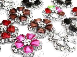 Wholesale lots 50ps CZ&crystal resin flower rings FREE