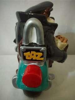 TASMANIAN DEVIL MOTORCYCLE BIKE COOKIE JAR #C1303.