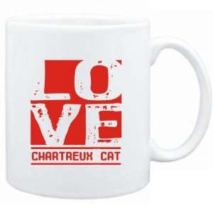 Mug White  LOVE Chartreux  Cats