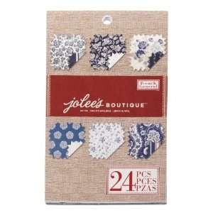 Jolees Boutique Mat Paper Pad, Blue Flowers Arts, Crafts