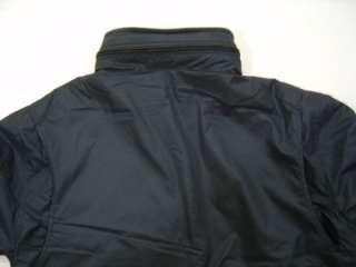 Mens L Hooded Leather Jacket Coat Zip Fleece Black Hoodie Line