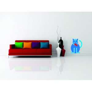 Removable Wall Decals   cat with bird in mouth