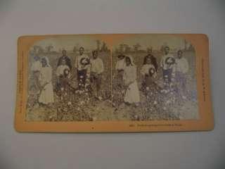 African American Black Americana Cotton Pickers Kilburn Stereoview