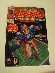 SuperPro #1 Special Edition NFL Comic Book Marvel NR