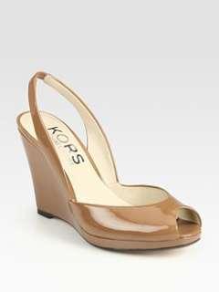 Kors Michael Kors   Vivian Patent Leather Slingback Wedges