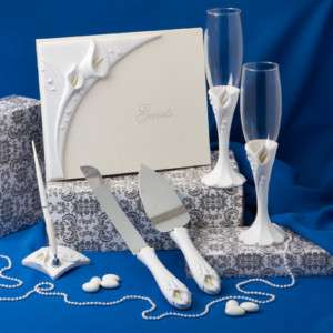 Calla Lily WEDDING Set Accessories Gifts PICK from FOUR
