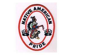 NATIVE AMERICAN PRIDE, Embroidery Patch, Harley, #1267
