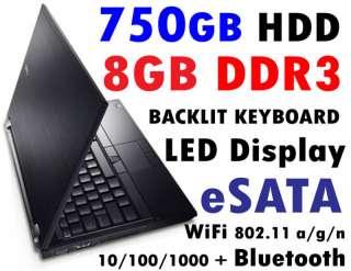 NEW DELL 750GB WINDOWS 7 XP PRO 8GB Backlit Keyboard
