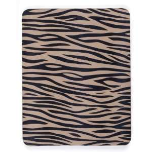 Black/Tan Zebra Skin Case (Covers Front & Back) for Apple iPad