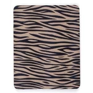 Black/Tan Zebra Skin Case (Covers Front & Back) for Apple iPad
