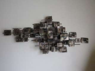 Mid Century Modern CURTIS JERE Scupture Metal Wall Art Eames ABSTRACT