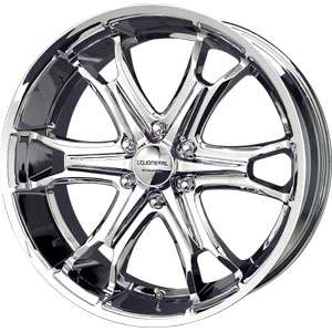 New 20X9 6 139.7 Liquid Metal Coil 6 Spoke Chrome Wheel/Rim