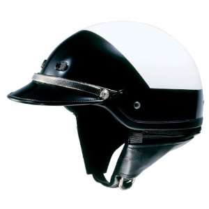 Shoei ST LE Open Face Motorcycle Helmet Black/White Extra Large XL 03
