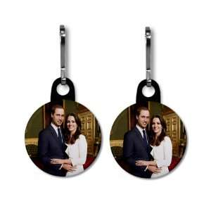 Prince William Kate Middleton Royal Engagement 2 Pack 1 Black Zipper