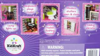 KidKraft Large Wood Dollhouse fits Barbie Doll House Kit + Furniture