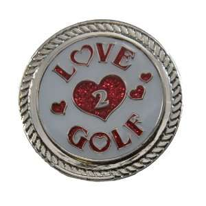 Navika KICKS CANDY Love 2 Golf Glitzy Ball Marker with