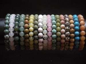 Wholesale Lot 100*Round GEMSTONE Bead Stretch Bracelets