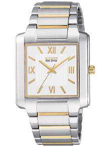 Citizen Mens Eco Drive Two Tone Watch BJ6434 58A NEW