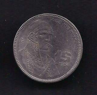 World Coins   Mexico 1 Peso 1984 Coin KM# 496