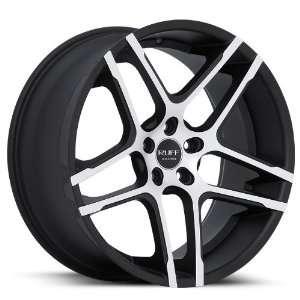 20x10 Dodge Chrysler Wheels Rims Machine Face Matte Black Lip Wheels