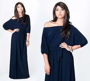 One Shoulder Navy Blue Plus Size Long Maxi Dress XL 2X