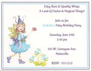 15 Fairy Dust Birthday Party Invitations Personalized