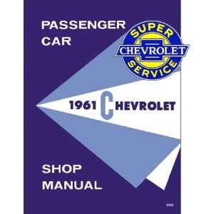 Chevy Car Shop Service Repair Manual 61 with Decal Chevrolet Books