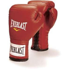 Everlast Professional Lace Up Training Gloves, RD, 12