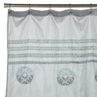 Blue Stripe Shower Curtain On PopScreen