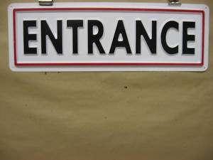 ENTRANCE Service Sign 3D Embossed Plastic 5x17 Hi Visibility, Shop