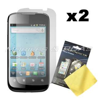 Black Silicone Skin Cover Case+2x Films+Car Charger for Huawei Ascend