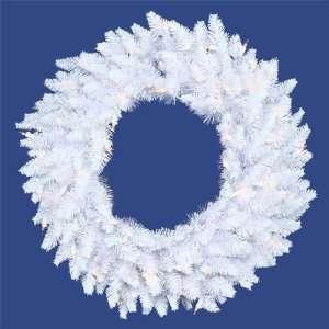 ft. Christmas Wreath   Classic PVC Needles   White   Ashley Spruce
