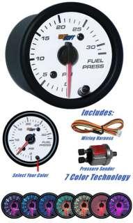 White Face 30 PSI Fuel Pressure Gauge w Pressure Sender