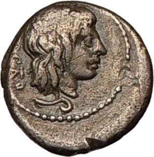 Porcius CATO, 89 BC. Roman Republic.Silver Quinarius