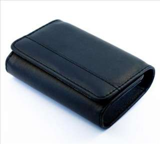 Black Leather Pouch Case Bag for Digital Camera DC IXUS