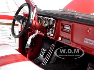 scale diecast model car of 1972 chevrolet c 10 cheyenne pickup truck