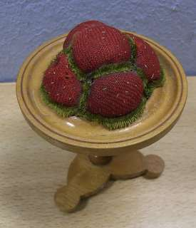 Antique German Wooden Table Pin Cushion 1880 #BT