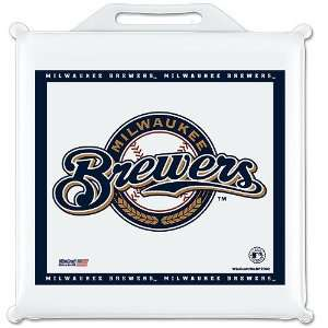 MILWAUKEE BREWERS OFFICIAL LOGO SEAT CUSHION: Sports