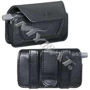 NEW BLACK LEATHER POUCH CASE WITH BELT CLIP FOR MOGUL PPC